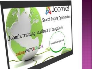 jomla training institute in bangalore