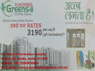 Panchsheel green luxurious flat at minimum price Call  91 9560450435