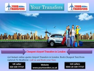 London Airport Transfer Services