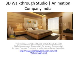 3D Walkthrough Studio | Animation Company India