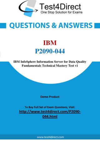 IBM P2090-044 Test Questions