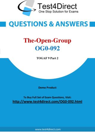 The Open Group OG0-092 Test Questions