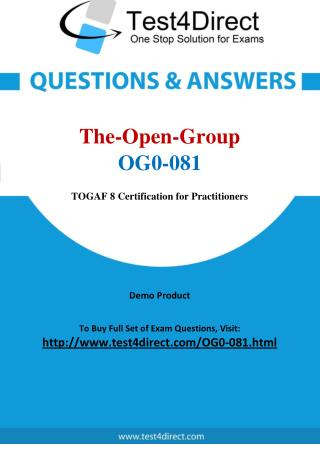 The Open Group OG0-081 Test Questions