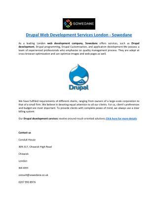 Drupal Web Development Services London -Sowedane