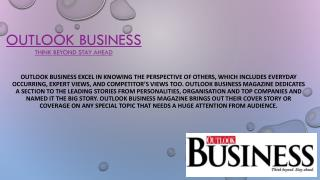 Online Business Magazine - Outlook Business