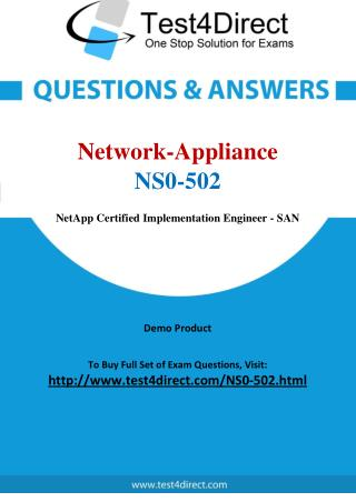 Network Appliance NS0-502 Test - Updated Demo