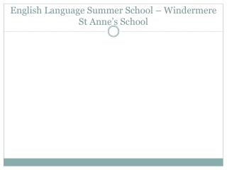 English Language Summer School