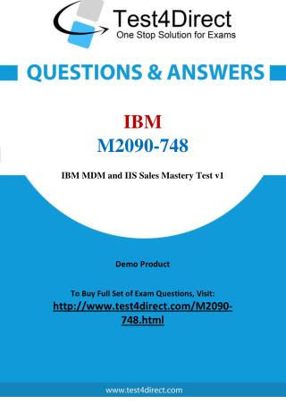 IBM M2090-748 Test - Updated Demo