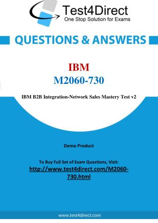 IBM M2060-730 Test Questions