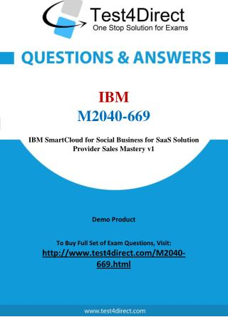 IBM M2040-669 Test Questions