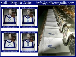 Blue lodge officer Apron - production process