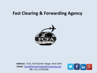 Cargo Clearance Service Provider Delhi India