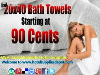 USA based Reliable Hotel Supplies