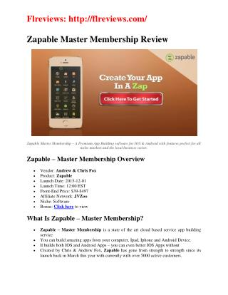 Zapable Master Membership huge discount