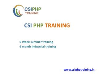 6 Months Industrial Training in Chandigarh