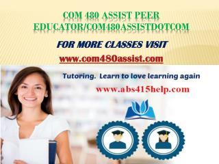 com 480 assist Peer Educator/com480assistdotcom