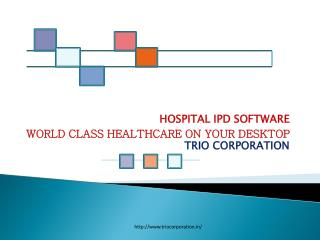 Hospital IPd Software| Hospital Management Software: TRIO Corporation