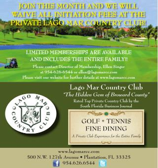 Special Membership Offering by Lago Mar Country Club