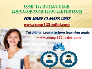 comp 122 outlet Peer Educator/comp122outletdotcom