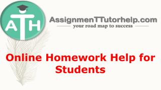 Online Homework Help for Students | ATH