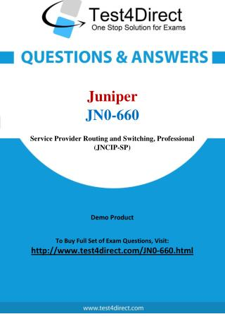 Juniper JN0-660 Test - Updated Demo