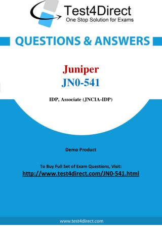 Juniper JN0-541 Test Questions