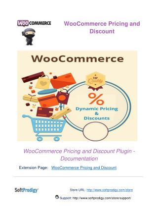 WooCommerce Pricing and Discount Plugin