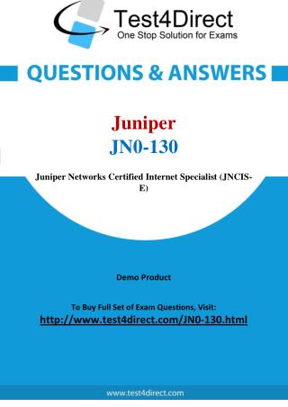 Juniper JN0-130 Exam - Updated Questions