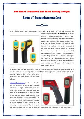 How Infrared Thermometers Work Without Touching The Object