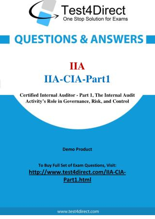 IIA-CIA-Part1 Real Exam Questions
