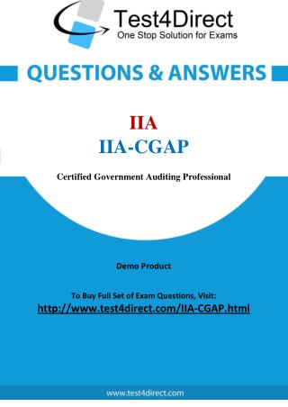 IIA-CGAP Exam - Updated Questions
