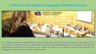 Conference Interpreting and Language Translation Services