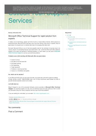 Microsoft Office Technical Support for rapid solution from experts