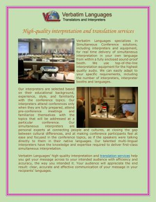 High-quality interpretation and translation services
