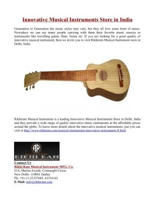 Innovative Musical Instruments Store in India