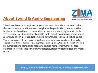 Sound Engineering Course | Audio Recording Courses- ZIMA