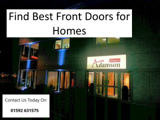 Find Best Front Doors for Homes