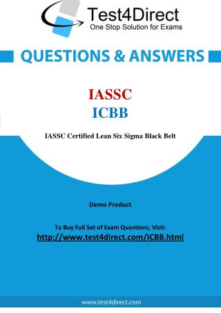 ICBB IASSC Exam - Updated Questions