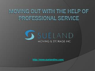Moving Out With The Help Of Professional Service