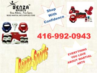 Buy Online Martial Arts Equipment | Benza Sports | 416-992-0943