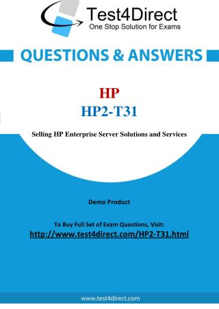 HP HP2-T31 Exam Questions