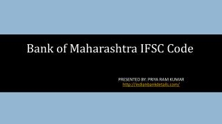 IFSC code of Bank of maharashtra