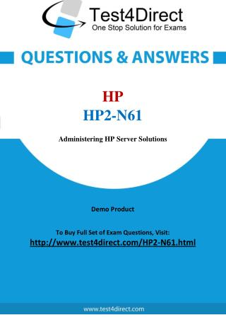 HP2-N61 HP Exam - Updated Questions