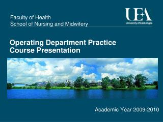 Operating Department Practice Course Presentation