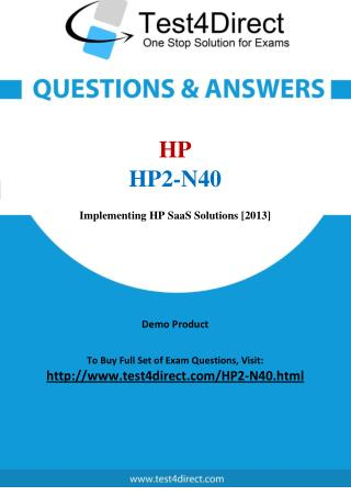 HP HP2-N40 Exam - Updated Questions