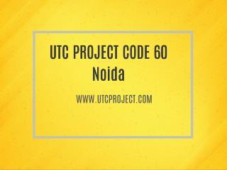 utc project code 60