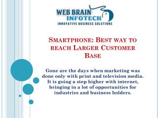 Smartphone Marketing: Best way to reach Targeted Customer