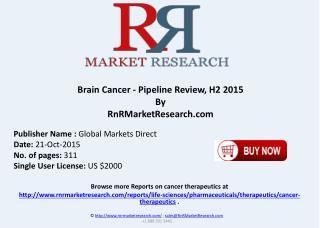 Brain Cancer Pipeline Review H2 2015