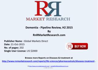 Dementia Pipeline Review H2 2015