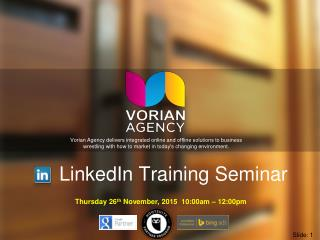 LinkedIn Training Seminar by Matt Lynch Perth Social Media Marketing Specialist